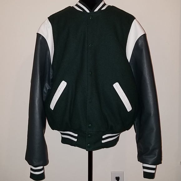 Varsity Jacket The Original Holloway Green Leather